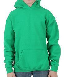 Gildan Heavy Blend Youth Hooded Sweatshirt, Irish Green ,