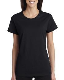 Gildan Ladies 5.3 oz. Heavy Cotton Missy Fit T-Shirt - BLACK