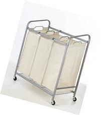 Heavy-Duty 3-Bag Laundry Sorter Cart Hamper Organizer LS03