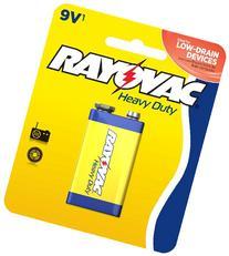 Rayovac Heavy Duty 9V Batteries, D1604-1D, 1-Pack