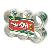 """Duck Heavy-Duty Carton Packaging Tape, 3"""" X 55Yds, Clear, 6/"""