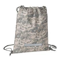 Heavy Duty Drawstring Backpack in Digital Camouflage Army