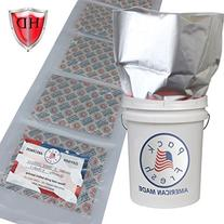 5 Gallon Heavy Duty Mylar bags with 2000cc oxygen absorbers