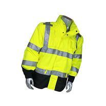Heavy Duty Rip Stop Rain Jacket 300 Denier Pu Coated Rip