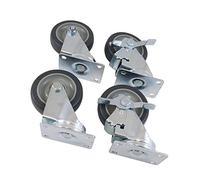 Heavy Duty Set 4 Wheel Plate Casters Non Rust Non Marking