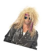 Heavy Metal Rocker Blonde Adult Wig, Yellow, One-Size