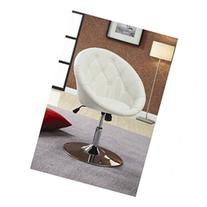 Hebron Swivel Chair in White