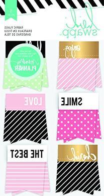 Heidi Swapp Hello Beautiful Embellishments 6/Pkg-Fabric