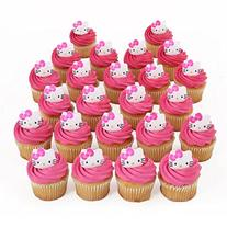 Hello Kitty Cupcake Rings - 24 ct