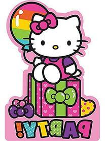 Adorable Hello Kitty Rainbow Birthday Party Invitations