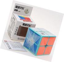 HelloCube MoYu WeiPo 2x2x2 Magic Cube Cyan