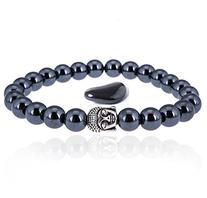 Buddha Root Chakra Bracelet - Premium Hematite Healing Stone