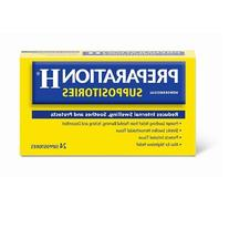 Preparation H Hemorrhoidal Suppositories 24 ea