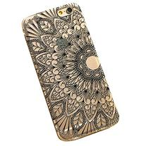ABC® Hot Selling Henna Black Floral Flower Plastic Case