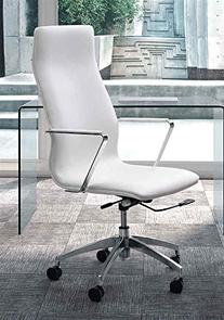 Zuo Modern HERALD HIGH BACK OFFICE CHAIR WHITE