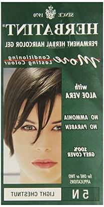 Herbatint Permanent Herbal Haircolour Gel, Light Chestnut,