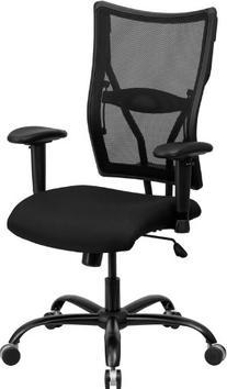 Flash Furniture Hercules Series 400 lb. Capacity Black Mesh