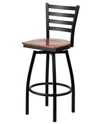 Flash Furniture HERCULES Series Black Ladder Back Swivel