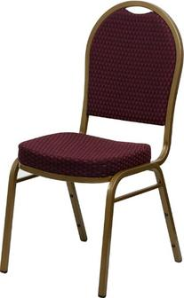 HERCULES Series Dome Back Stacking Banquet Chair with 2.5''