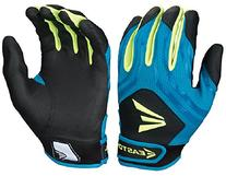 Easton HF3 Fastpitch Youth Gloves, Teal/Green/Grey, Large