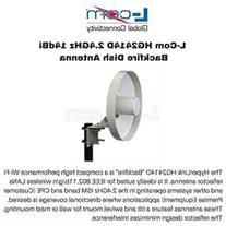 L-Com HG2414D 2.4GHz 14dBi Backfire Dish Antenna N-Female
