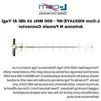 L-Com HG914YE-NF - 900 MHz 14 dBi Al Yagi Antenna N Female
