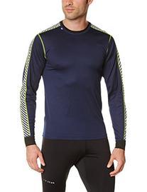 Helly Hansen Men's Stripe Crew Shirt, Black/High Viz, Small