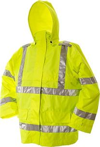 Viking Open Road 150D Hi-Vis Waterproof Rain Jacket, Green,