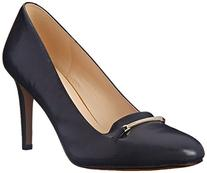 Nine West Women's Hiatus Leather Dress Pump, Dark Navy, 8 M