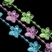 Hibiscus Flower Bead Necklaces