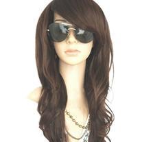 MelodySusie Dark Brown Curly Wig - Glamorous Women Long