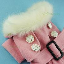 Fitwarm Noble Pink Woolen Pet Clothes for Dog Jackets Coat