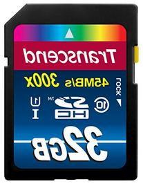 Transcend 32GB SDHC Class 10 UHS-1 Flash Memory Card Up to