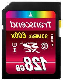 Transcend 128GB SDXC Class 10 UHS-1 Flash Memory Card Up to