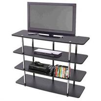 Convenience Concepts Highboy TV Stand - Up to 42 Screen Support - 50 lb Load Capacity - Flat Panel Display Type Supported - 4 x Shelf - 36 Height x 47