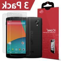 iCarez LG Google Nexus 5  Premium Screen Protector  3-Pack