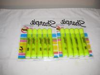 Sharpie Highlighter, Smear Guard ,5 Per Pack Flluorcent