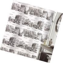 HIGOGOGO Simple European City Landmark Printed Shower