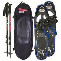 RedFeather Men's Series Hike 30 SV2 Snowshoes Kit, Ski Poles