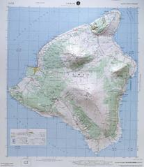 HILO REGIONAL Raised Relief Map in the state of Hawaii with