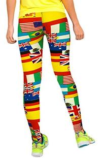 Pink Queen® Hipsters Various Flag Printed YOGA Stretch
