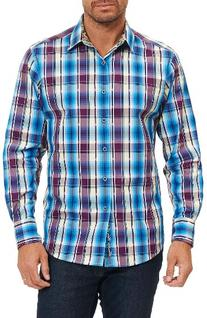 Men's Robert Graham Hiran Plaid Sport Shirt, Size X-Large -