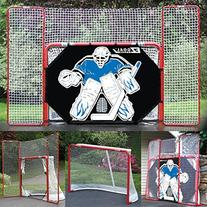 EZGoal Hockey Folding Goal with Backstop, Shooter Tutor and