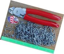 "USA Hog Ringer Pliers & 150Pcs 3/4"" Rings Netting Attachment"