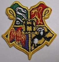 "Harry Potter Hogwarts Shield 2 1/4"" Wide Embroidered Patch"