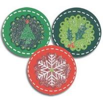 Holiday Circles Christmas Seals - 100 Pack