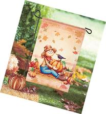 Set of 3 Holiday Garden Flags 12wx18-1/2W inches