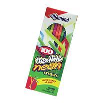 Neon Flex Neck Straw