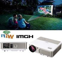 EUG Wireless Home Theater Projector HDMI USB, Support Full