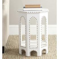 Safavieh Home Collection Nara White Croc End Table
